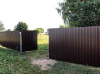 Комплект материалов для забора из металлопрофиля высотой 1,8 метра