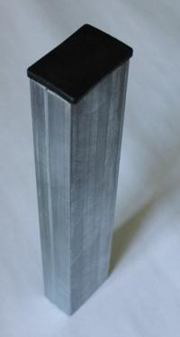 Столб для 3D панелей 61х35х1,2 мм оцинкованный с заглушкой