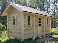 """Каркасный деревянный дом """"под ключ"""" Дача 6х3метра"""