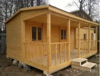 Каркасный деревянный дом  Дача с террасой 6х5метра
