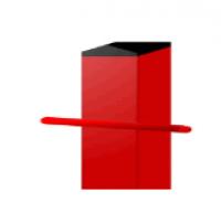 Столб 40*40  для сетки рабицы 2,2 метра