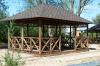 Четырехгранная прямоугольная садовая деревянная беседка на 25 человек БОЛЬШАЯ ЕВРОПА