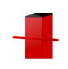 Столб 40*40  для сетки рабицы с заглушкой