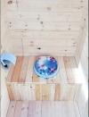 Каркас деревянного туалета